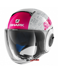 Shark Nano Jethelm - Tribute RM / Wit / Violet / Antraciet_1