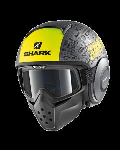 Shark Drak Jethelm - Tribute RM / Antraciet / Geel / Zwart_1