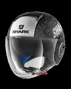 Shark Nano Jethelm - Tribute RM / Zwart / Wit / Antraciet_1
