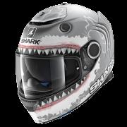 Shark Spartan Integraalhelm - Lorenzo / Mat Zilver_1